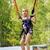 girl jumping on a trampoline kangaroo stock photo © krugloff