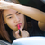 asian girl applying makeup while in the car stock photo © kttpngart