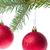 kırmızı · Noel · önemsiz · şey · asılı · şube · beyaz - stok fotoğraf © kubais