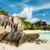 ビーチ · 花崗岩 · ターコイズ · 海 · 空 · 水 - ストックフォト © kubais