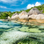 пляж · Гранит · бирюзовый · морем · небе · воды - Сток-фото © kubais