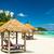 plaj · çatı · turkuaz · deniz · gökyüzü · su - stok fotoğraf © kubais