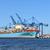 konteyner · gemi · iş · gün · batımı · deniz · gece - stok fotoğraf © kuligssen