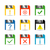 information set of icons vector illustration stock photo © kup1984