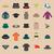 különböző · sapkák · gyűjtemény · haj · tél · érettségi - stock fotó © kup1984