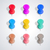 set of pushpins vector illustration stock photo © kup1984
