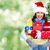 young happy woman celebrating christmas stock photo © kurhan