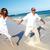 jonge · romantische · paar · lopen · strand · zee - stockfoto © kurhan