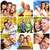group of happy people collage stock photo © kurhan