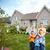 boldog · család · új · ház · hatóanyag · ingatlanügynök · család · férfi - stock fotó © kurhan