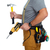 builder handyman with drill and hammer stock photo © kurhan