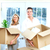 Happy couple moving in a new house. stock photo © Kurhan