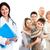 médico · idosos · Casal · sorrindo · médica · estetoscópio - foto stock © kurhan