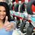 auto dealer woman near a car tire stock photo © kurhan