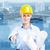 女性 · 建築 · 小さな · 美人 · エンジニア · 産業 - ストックフォト © Kurhan
