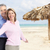 happy senior couple on caribbean beach stock photo © kurhan
