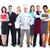groep · werknemers · mensen · geïsoleerd · witte · business - stockfoto © Kurhan