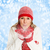 happy christmas woman in winter clothing stock photo © kurhan