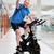 senior man cycling on bike trainer stock photo © kurhan