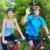 верховая · езда · велосипедах · парка · человека · счастливым - Сток-фото © kurhan
