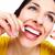 gyönyörű · nő · fogselyem · fogorvos · egészségügy · klinika · mosoly - stock fotó © Kurhan