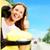 幸せ · 女性 · 買い · 車 · 新しい車 · サロン - ストックフォト © kurhan