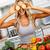 девушки · помидоров · продовольствие · портрет · улыбаясь · свежие - Сток-фото © kurhan