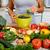 handen · mooie · gewoonte · keuken · vrouwelijke · keuken · interieur - stockfoto © kurhan