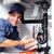 idraulico · giovani · sorridere · sink · cucina - foto d'archivio © Kurhan