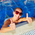 woman in the pool stock photo © kurhan