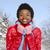 africaine · femme · écharpe · visage · innocent · belle - photo stock © kurhan