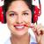 beautiful business woman with headset stock photo © kurhan