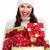 красивой · Рождества · девушки · подарок · подарки · изолированный - Сток-фото © Kurhan