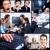 üzletemberek · csoport · mosolyog · üzleti · csapat · kollázs · üzlet - stock fotó © Kurhan