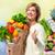 compras · ancianos · personas · feliz · centro · mujer - foto stock © kurhan