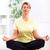 kıdemli · kadın · yoga · deniz · uygunluk - stok fotoğraf © kurhan