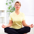 altos · encajar · feliz · mujer · estera · de · yoga - foto stock © kurhan