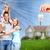 happy family near new home stock photo © kurhan