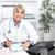 altos · vacunación · mujer · médico · aislado · blanco - foto stock © kurhan