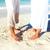 szerető · pár · láb · fiatal · leszbikus · átkarol - stock fotó © kurhan