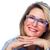 美しい · シニア · 女性 · 着用 · 眼鏡 · ビジョン - ストックフォト © kurhan