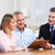 senior couple with real estate agent stock photo © kurhan