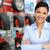 auto · sprzedawca · kobieta · samochodu · opon · piękna - zdjęcia stock © kurhan