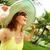 Woman in the tropical garden. stock photo © Kurhan