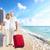 счастливым · Карибы · пляж · отпуск · женщину - Сток-фото © kurhan