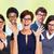 группа · деловые · люди · очки · глаза - Сток-фото © kurhan