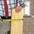 travailleur · de · la · construction · bois · planche · maison · main - photo stock © kurhan