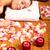 mulher · jovem · estância · termal · massagem · salão · relaxar · flor - foto stock © Kurhan