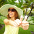nő · trópusi · kert · vakáció · víz · kéz - stock fotó © kurhan