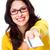 gyönyörű · nő · hitelkártya · izolált · fehér · nő · lány - stock fotó © Kurhan